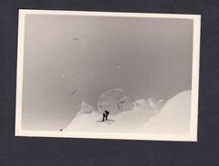 Photo Originale Vintage  Snapshot Sports D'hiver Chamonix Mont Blanc Descente Sur Courmayeur Avril 1960 - Lieux