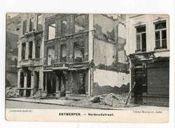 A 19462   -   5 Cartes - Antwerpen - Cliché Mauquoy - Verbondstraat, K. Oomsstraat, Lozanastraat, Brantstraat.... - Guerre 1914-18
