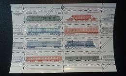 RUSSIA 1985 MNH (**)YVERT 5218-5225 Locomotives And Wagons Of Soviet Railways