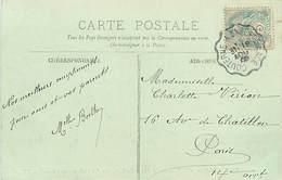 A-17-3770 : OBLITERATION CACHET AMBULANT COUTERNE A LA FERTE MACE ORNE. - Marcophilie (Lettres)