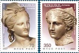 Armenia MNH** 2007 Mi 633-634 Armenian - Greek Joint Issue. Anahit Aphrodite Goddesses - Armenia