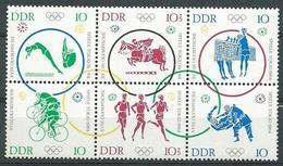 DDR  1964  Mi 1033 - 1028  Olympische Sommerspiele  Postfrisch