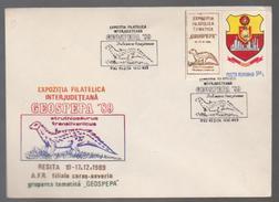 COVERS  PREHEISTORICS COVERS ROMAN IA,GEOSPEPA Inter-County Philatelic Exhibition -RESITA 1989