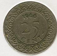 Surinam Suriname 25 Cents 1966 KM 14 - Surinam 1975 - ...