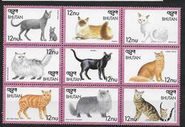 Bhoutan 1999  N° 1450/1458 Neufs Avec Chats