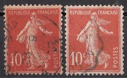 162 Francia 1906-07 Seminatrice Sower (tipo I E Tipo II Used France