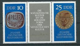 DDR  1970  Mi 1592 - 1593  25 Jahre Deutscher Kulturbund  Postfrisch