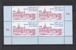 BRD ** 3290 1000 Jahre Stadt Neunburg Vorm Wald 4er Block   Neuausgabe 1.3.2017 Postpreis 1,80 - [7] República Federal