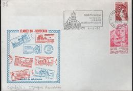 """Lettre 95 Montmorency 4-6 1980 Flamme =o """"........Musée J.J. Rousseau"""" Concordante Avec Timbre J.j. Rousseau"""