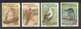Gabon Sc# 750-753 MNH 1992 Birds - Gabon (1960-...)