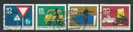DDR  1966  Mi 1169 - 1172  Sicherheit Im Straßenverkehr  Gestempelt