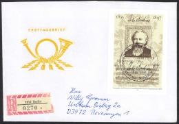 German Democratic Republic Sc# 2313 FDC Registered 1983 1.15m Johannes Brahms - [6] Democratic Republic