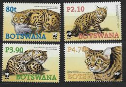 Botswana 2005 N°945/948 Neufs Avec Chats