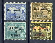 WF Taxe 1920 Piccolo Lotto N. 1-4 MLH Cat. € 5,25 - Segnatasse