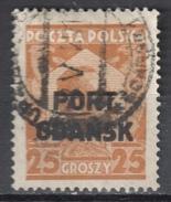 Poland Port Gdansk 1928 Danzig - Mi. 19 - Used Gestempelt