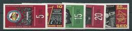 DDR  1966  Mi 1173 - 1177 20 Jahre SED   Postfrisch