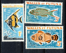WF Taxe 1963 Serie N. 37-39 Pesci MNH Cat. € 12 - Postage Due