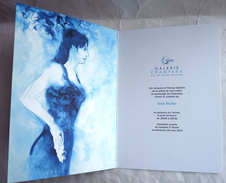 Rare CARTE D'INVITATION EXPOSITION José MUNOZ GALERIE CHAMPAKA 2012 - Livres, BD, Revues