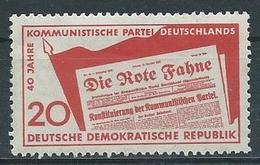DDR  1958   Mi 672 40 Jahre KPD  Postfrisch