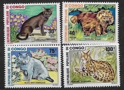 Rep. Pop. Du Congo 1974 N°351/354 Neufs Avec Chats