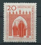 DDR 1958  Mi 634  Bau Des Seehafens Rostock  Postfrisch