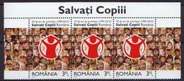Romania MNH Children Stamp In A Strip Of 3