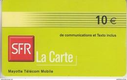 MAYOTTE - TÉLÉCARTE - GSM DU MONDE *** RECHARGE GSM - SFR / 1 *** - Comoros