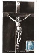 Jean Perrin 1870-1942-Prix Nobel De Physique 1926-YT 821-1948-Seul Sur CP De La Chaise Dieu-Le Christ En Ivoire - 1921-1960: Moderne