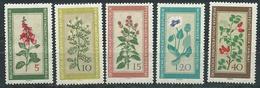 DDR 1960  Mi 757 - 761  Einheimische Heilpflanzen  Postfrisch
