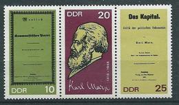 DDR  1968  Mi 1365 - 1367  100. Geburtstag Von Karl Marx  Postfrisch