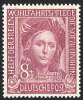 Germany Sc# B310 MH 1949 8+2pf Brown Violet St. Elisabeth - Ongebruikt