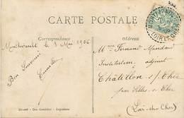 A-17-3799 : CARTE POSTALE FANTAISIE. CACHET MANUEL  PERLE MONTLIVAULT LOIR-ET-CHER 1906 - Marcophilie (Lettres)