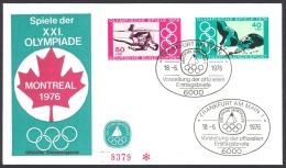 Germany Sc# B530-B531 FDC 1976 Olympics - BRD
