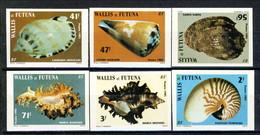 WF 1985 Serie N. 323-328 Conchiglie MNH NON DENTELLATI Cat. € 18 - Imperforates, Proofs & Errors