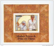 Diana-Mère Térésa-Uganda 1998-YT B279***MNH-Valeur 7 Euro