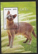 Guyana 2001 Bloc 394 Neuf Avec Chats