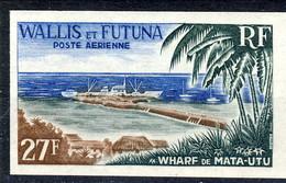 WF Posta Aerea 1965 N. 23 Il Molo Di Mata Utu MNH NON DENTELLATO Cat. € 13 - Imperforates, Proofs & Errors