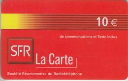LA RÉUNION - TÉLÉCARTE - GSM DU MONDE *** RECHARGE GSM - SFR / 1 *** - Reunion