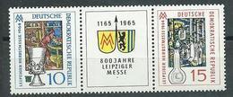 DDr  1964  Mi 1052 - 1053  Leipziger Herbstmesse  Postfrisch