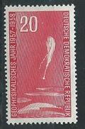 DDR  1958  Mi  617  Internationales Geophysikalisches Jahr  Postfrisch