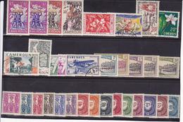 Cameroun N° Lot Timbres Neufs *  & Quelques Oblitérés - Voir Cote - - Cameroun (1915-1959)