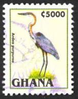 Ghana Sc# 1840 SG# 2162 Used 1995 5000ce Ardea Purpurea - Ghana (1957-...)