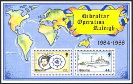 Gibraltar Sc# 539 MNH 1988 44p Operation Raleigh 1984-1988 - Gibraltar