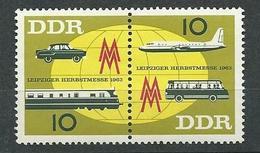 DDR  1963  Mi 948 - 949  Leipziger Frühjahrsmesse  Postfrisch
