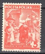 Poland Port Gdansk 1938 Danzig - Mi. 34 - MNH (**) - Postfrisch