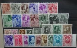 BELGIE   1941-42    Nr.  556-67 / 568 - 572 /  573-82 /  581 A - 582 A     Postfris **       CW  31,00
