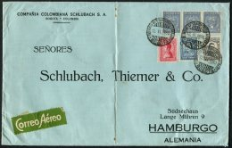 1930 Colombia SCADTA Airmail Cover Bogota - Schlubach, Thiemer & Co. Hamburg, Germany - Colombia