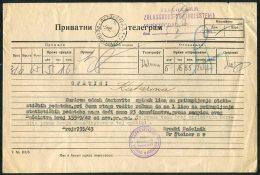 1943 Russia Petrograd Telegram
