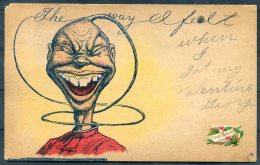 1909 USA Chinaman Chinese Cartoon Caricture Postcard. Winfield, Kansas - Atlanta - United States