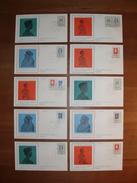 Trompet Envelop Nr. S24 (1977) - Set Van 10 Verschillende Enveloppen - Periode 1949-1980 (Juliana)